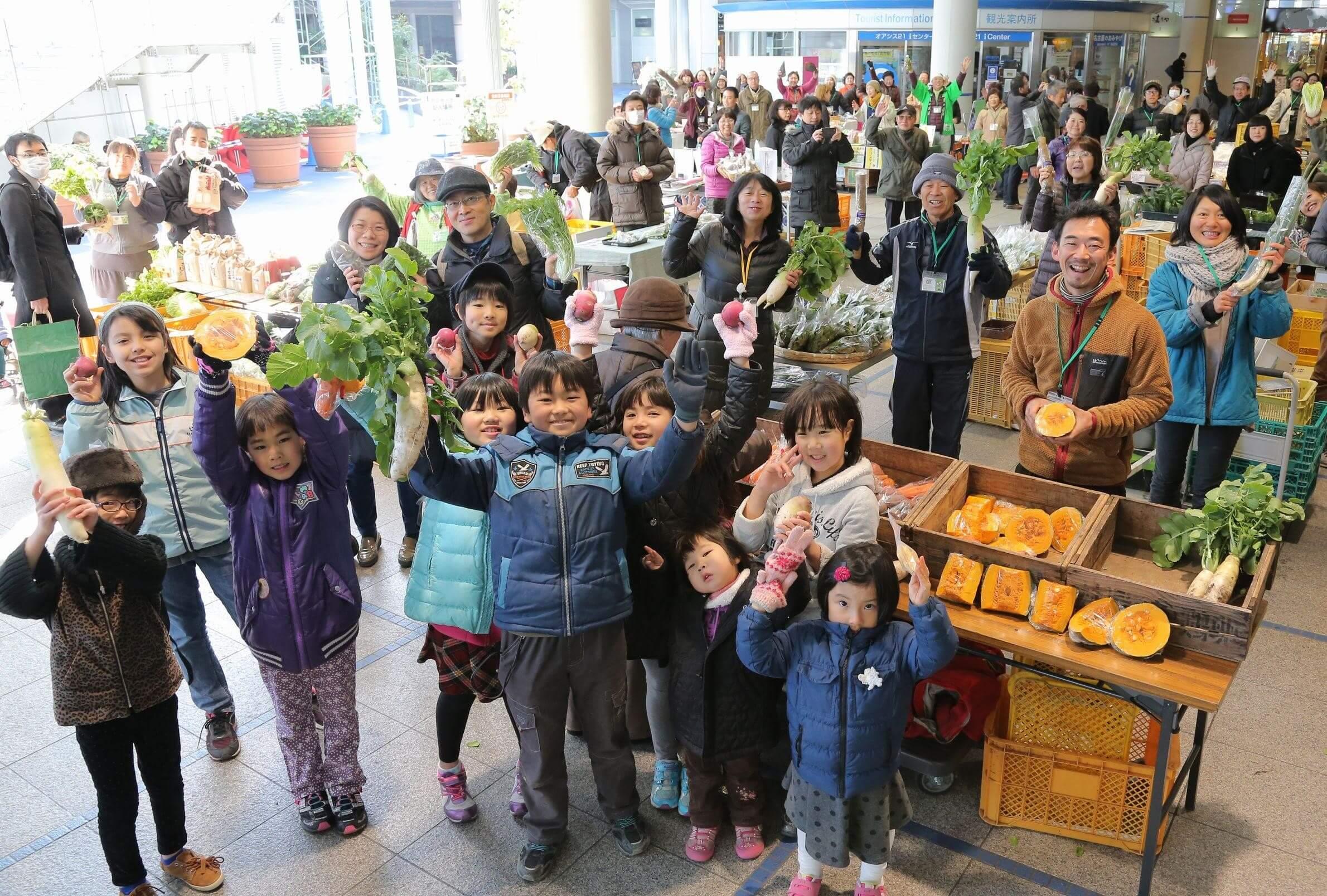 世界有機農夫市集大介紹 ─ 愛知縣名古屋市的有機農夫早市 「オアシス21オーガニックファーマーズ朝市村」
